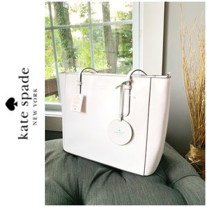 NWT Kate Spade genuine leather tote white